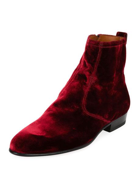 Lennox Velvet Ankle Boot