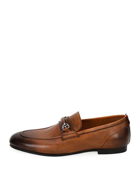 Plintor Leather Bit-Strap Loafer