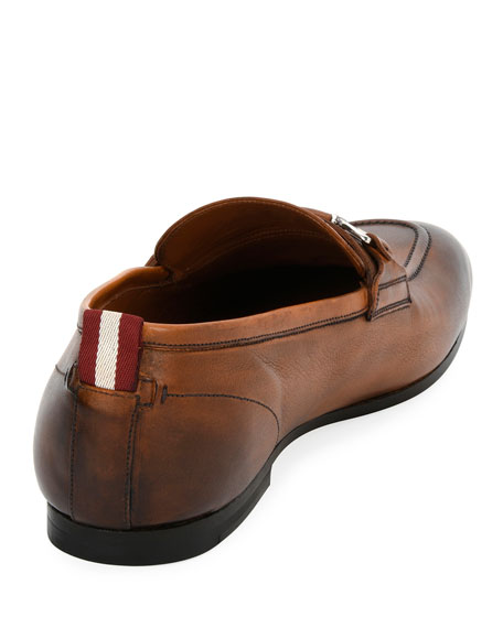 Plintor Leather Bit-Strap Loafer