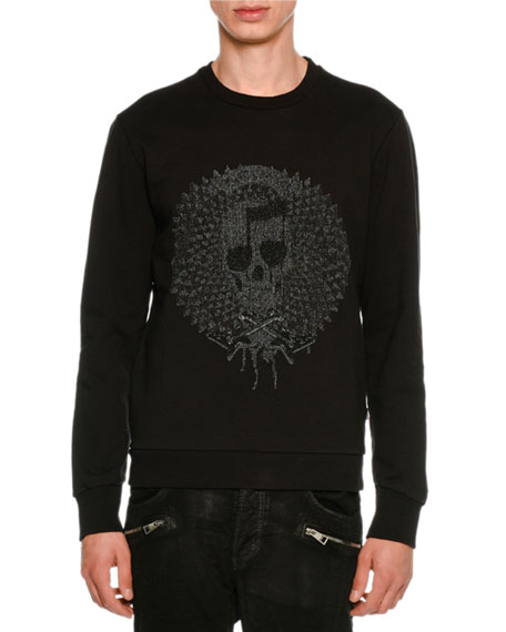 Just Cavalli Cotton Sweatshirt Skull & Guitar Graphics