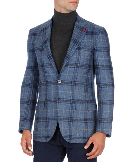 Sanita Glen Plaid Two-Button Sport Coat