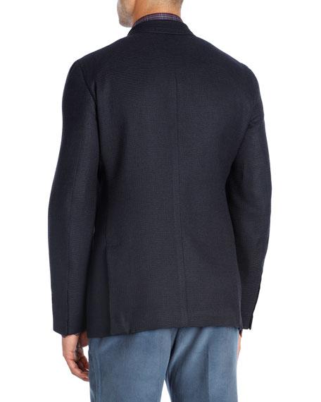 Textured Wool-Silk-Cashmere Blazer