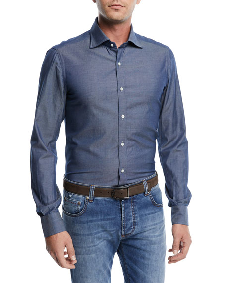 Washed Denim Sport Shirt