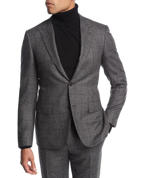 Canali Windowpane Wool Two-Piece Suit