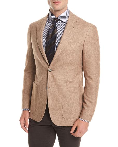 Silk-Cashmere Patch Pocket Blazer