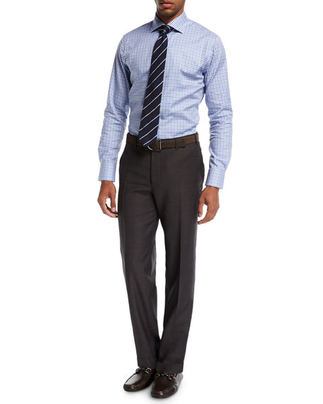 Twill Flannel Wool Dress Pants