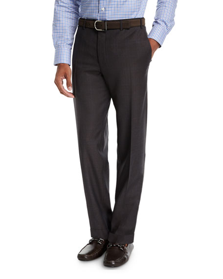 Canali Twill Flannel Wool Dress Pants