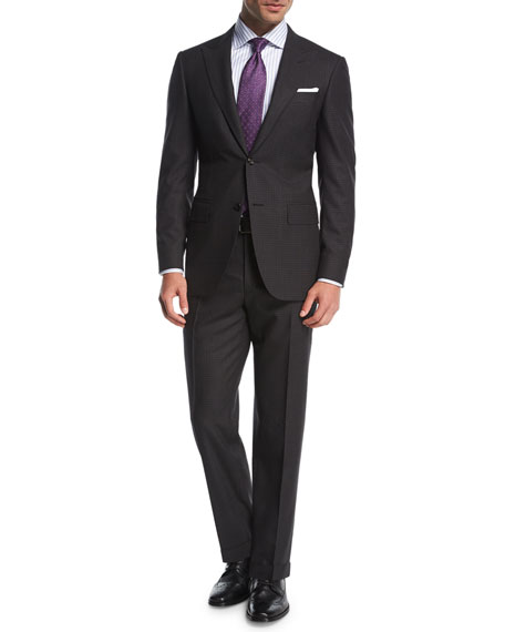 Check Impeccabile Super 140s Wool Two-Piece Suit