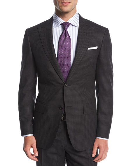 Canali Check Impeccabile Super 140s Wool Two-Piece Suit