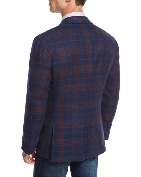 Plaid Cashmere Sport Coat