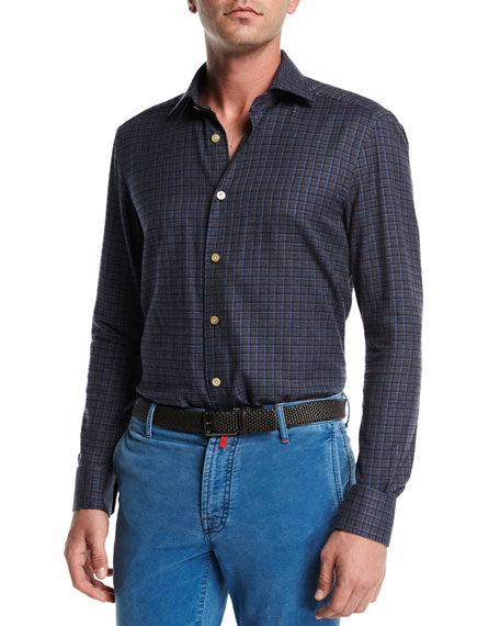 Kiton Check Cotton Shirt