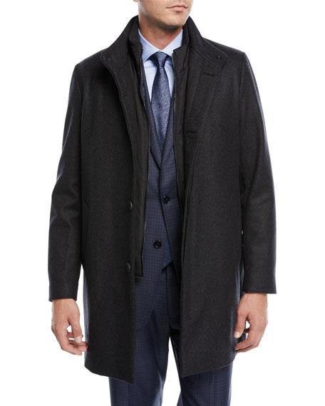 Armani Collezioni 3-in-1 Wool-Blend Coat
