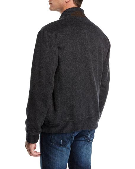 Double-Face Cashmere Bomber Jacket