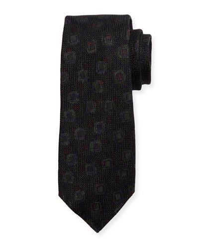 Grenadine Woven Silk Tie, Brown