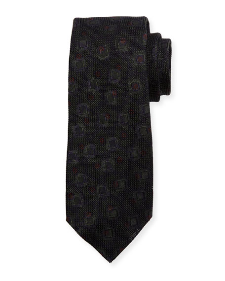 Kiton Grenadine Woven Silk Tie, Brown