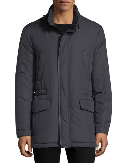 Technical Hooded Car Coat