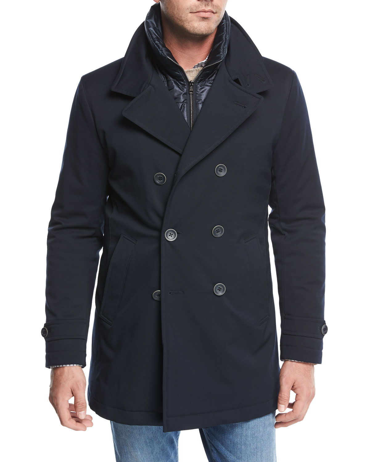 detailing ever popular crazy price Storm System Double-Breasted Peacoat