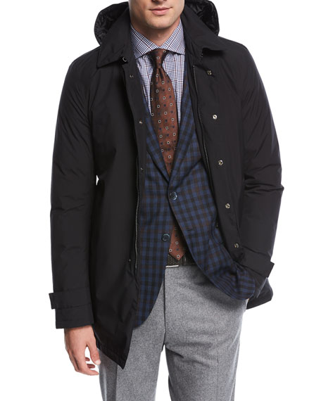 Herno Laminar City Trench Coat w/ Hood