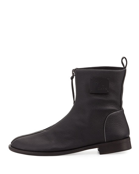 x Zayn Men's Zip-Front Leather Ankle Boot