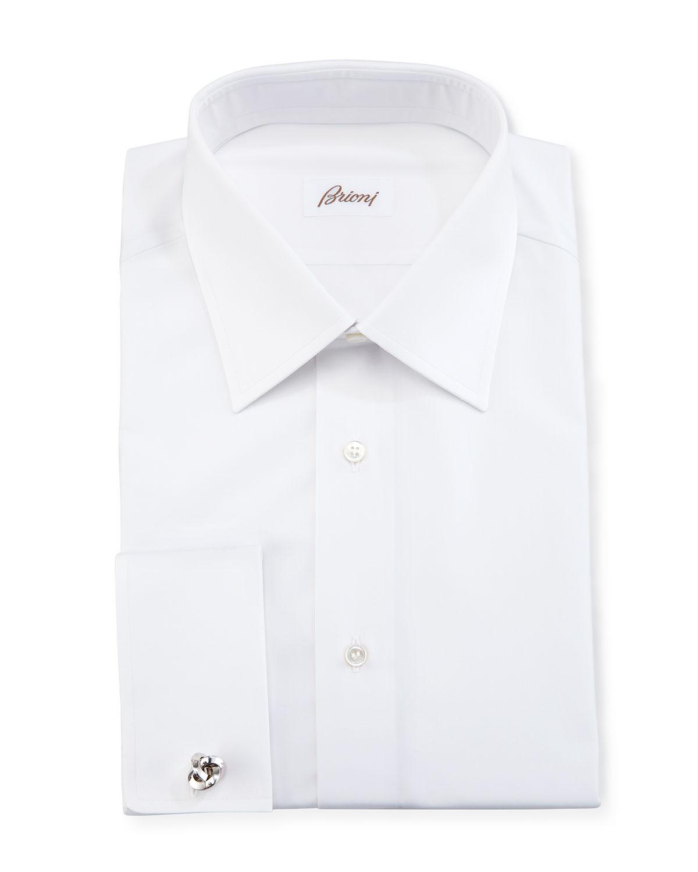 19a034436d08 Brioni Wardrobe Essential French-Cuff Dress Shirt