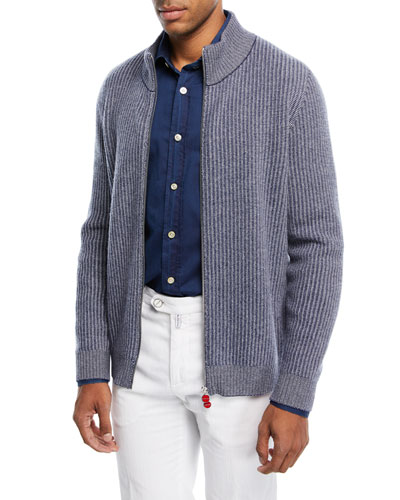 Melange Ribbed Cardigan