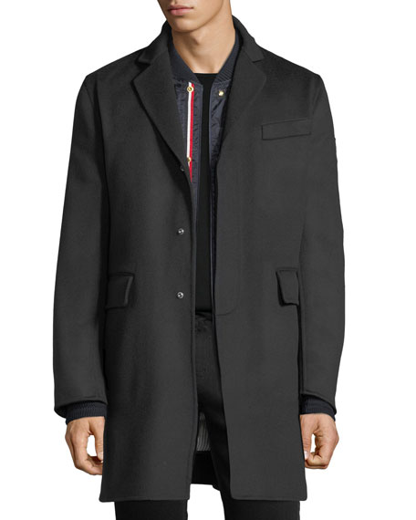 Moncler Gamme Bleu Chesterfield Wool Coat