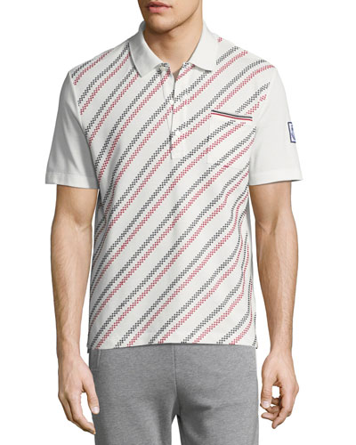 Embroidered Polo Shirt with Pocket