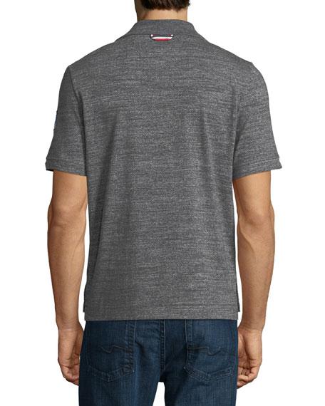 Heathered-Knit Polo Shirt