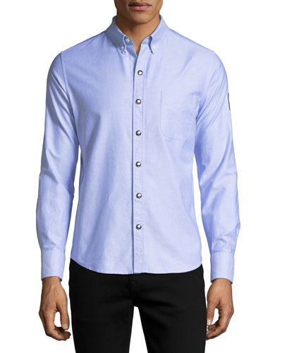Snap-Front Oxford Shirt