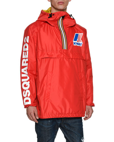 x K-Way® Short Reversible Nylon Packable Jacket