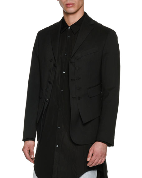 Dsquared2 2-in-1 Virgin Wool Formal Vest-Blazer
