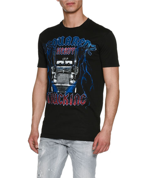 Dsquared2 Heavy Metal Trucking T-Shirt