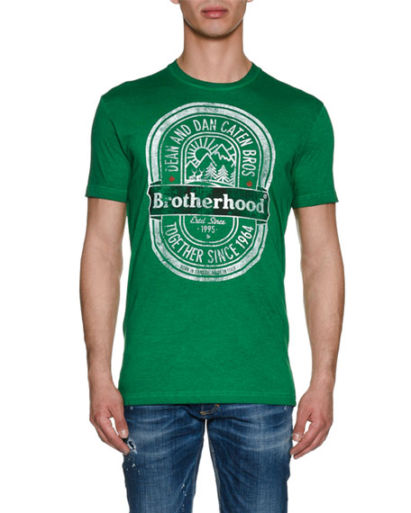 Dsquared2 Brotherhood Cotton Logo T-Shirt