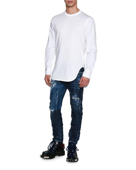 Tidy Biker Distressed Skinny Jeans