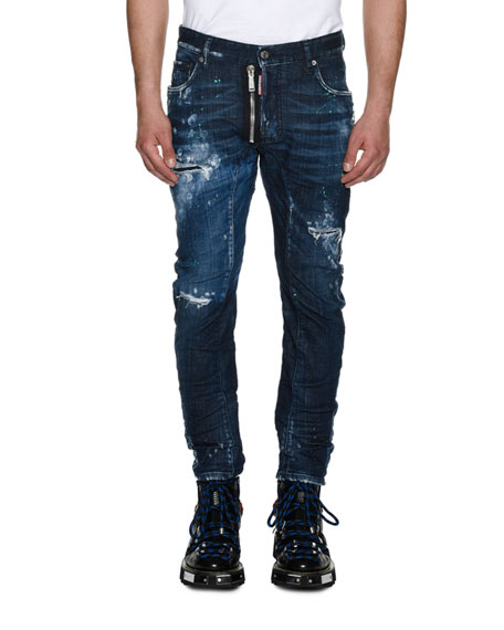 Dsquared2 Tidy Biker Distressed Skinny Jeans