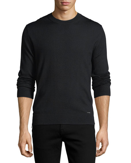 Dsquared2 Wool Crewneck Side-Zip Sweater