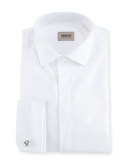 Armani Collezioni Cotton Tuxedo Dress Shirt