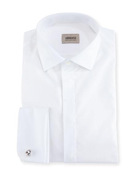 Armani Collezioni Cotton Tuxedo Dress Shirt