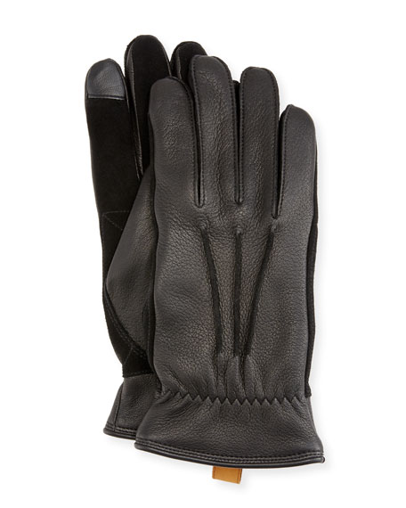 UGG Australia Men's 3-Point Leather Smart Gloves