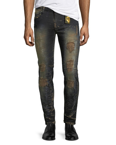 Marlon Studded Skinny Jeans