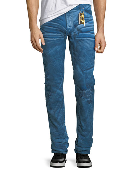 Robin's Jeans Distressed Denim Slim-Straight Jeans