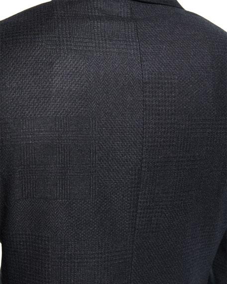 Houndstooth Plaid Tuxedo Jacket