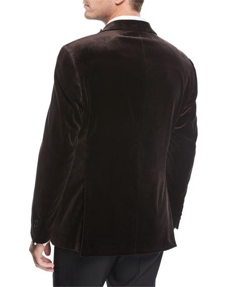 Peak-Lapel Velvet Dinner Jacket