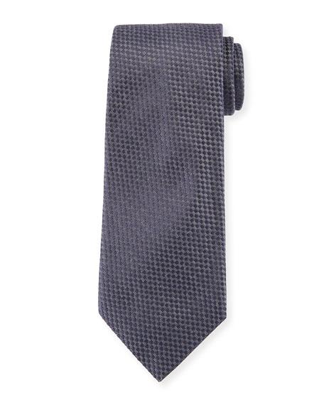 Solid Textured Silk Tie
