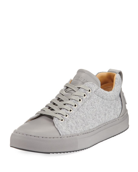 Buscemi Men's Lyndon Wool & Leather Low-Top Sneakers