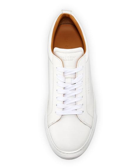 Lyndon Leather Low-Top Sneaker, White