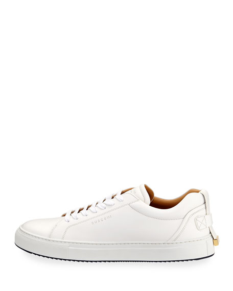 Men's Lyndon Leather Low-Top Sneakers, White