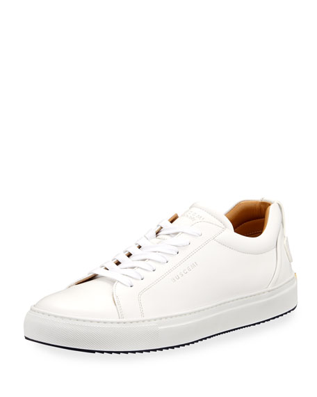 Buscemi Lyndon Leather Low-Top Sneaker, White
