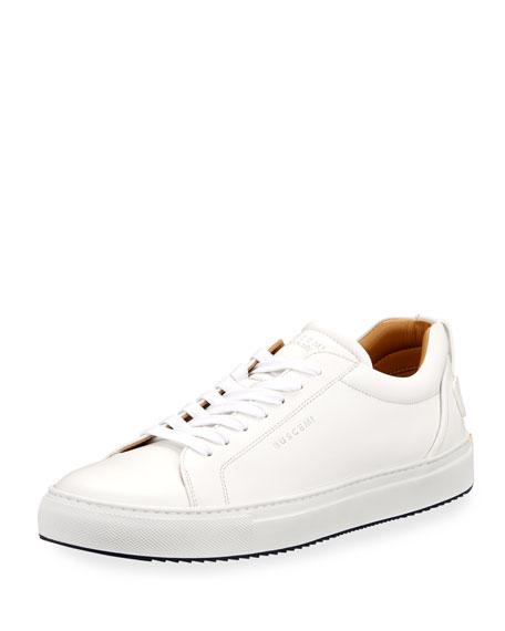Buscemi Lyndon Leather Low-Top Sneaker, White