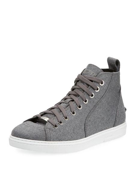 Men's Star-Stud Flannel High-Top Sneaker